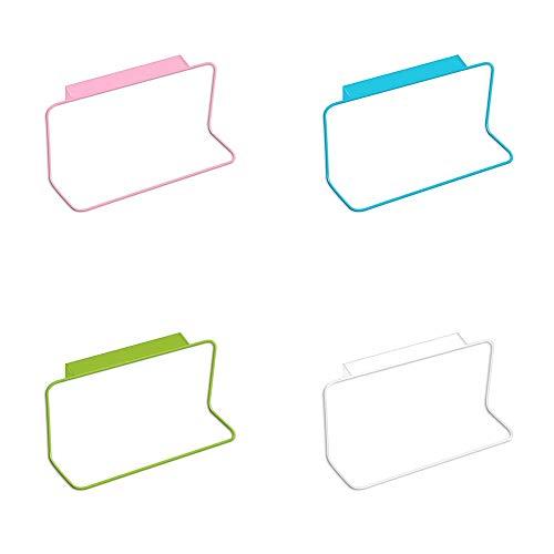 Qiaoniute Kabinett Tür zurück Handtuchhalter Kunststoff eingerückt Handtuch hängen Mehrzweck Küche Kleiderbügel Rack (Color : White) - Handtuch Kabinett Das über Küche