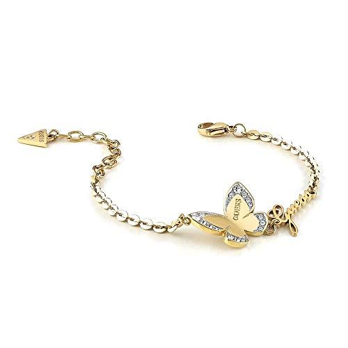 Imagen de pulsera guess love butterfly acero inoxidable quirúrgico logo chapada oro ubb78050 s [ac1120] alternativa