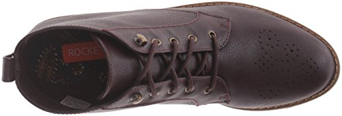 Rocket Dog Menosi Damen Rund Faux Wildleder Mode-Stiefeletten Burgundy