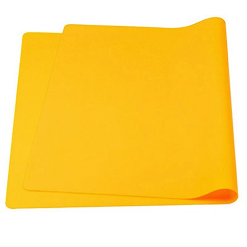 Aspire épaissir antidérapant étanche en silicone Sets de table Sets de table flexible extra-large, 1pièce, Orange, Taille unique