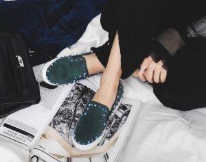 hexiajia 22cm-25ccm chaussure femme chaussure talon haut chaussure à perle chaussure noire Vert