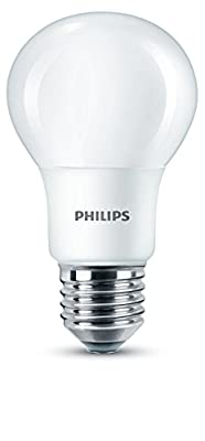Philips LED E27 Edison Screw Light Bulbs, Frosted, 8 W (60 W)