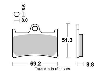 PASTIGLIE FRENI SEMI METALLICHE YAMAHA XP 500 T-MAX / ABS 2008-2011 ANTERIORE ( KYOTO-SIF )