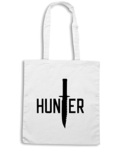 T-Shirtshock - Borsa Shopping TM0506 hunter Bianco