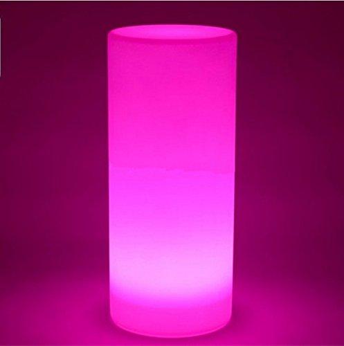 Gowe étanche Multicolore Hauteur 75 cm LED grande Tour pilier Lampadaire extérieur Rond S Colonne lumières de paysage d'éclairage