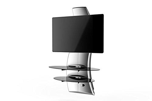 Meliconi ghost design 2000 silver supporto da muro per tv da 32