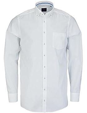 CASAMODA Comfort Fit Hemd extra langer Arm mit Besatz weiß AL 69