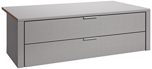 Express Möbel Schubladen 2 Schübe 100er  Grau BxHxT 100x29x45 verschiedenes Zubehör zur Auswahl