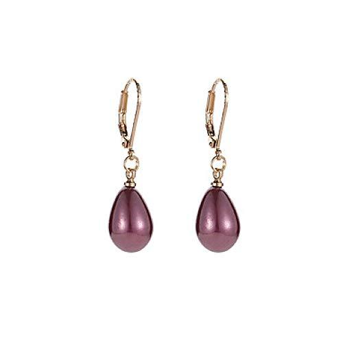 rringe der Frauen nachgemachte Perlen-Ohrringe Birnen-Damen-süße Art- und Weiseschmucksachen Grau/Wein/hellrosa für Partei- / Abend-Abschlussball-Versprechen 1 Paar @ Wine ()