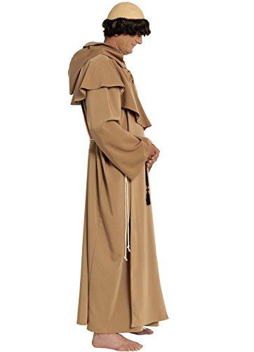 Karnevalskostüme Mönch Kostüm Priester Mönchskostüm Priesterkostüm Geistlicher Pfarrer (Priester Hohe Kostüm Qualität)