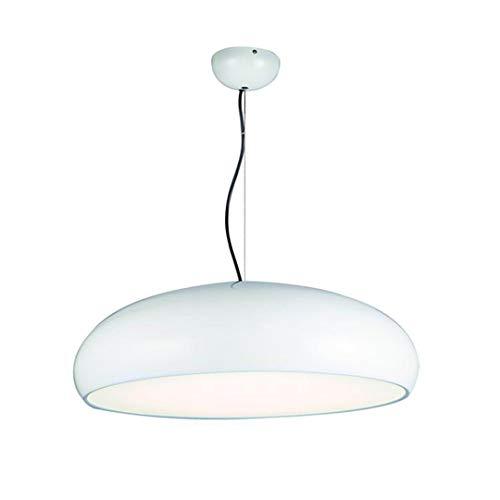 CRESDAR&L Modern LED Pendelleuchten E27 Aluminium Hänge Beleuchtung Pendelleuchte Schlafzimmer Restaurant Dekoration Leuchten White 31-40W Big D60xH20cm