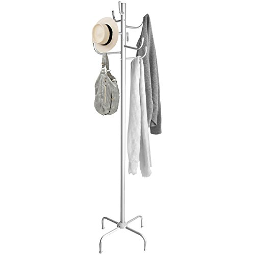 Kleiderständer Stabil und Belastbar mit 8 Haken Metall Garderobe Garderobenständer Hut-Ständer