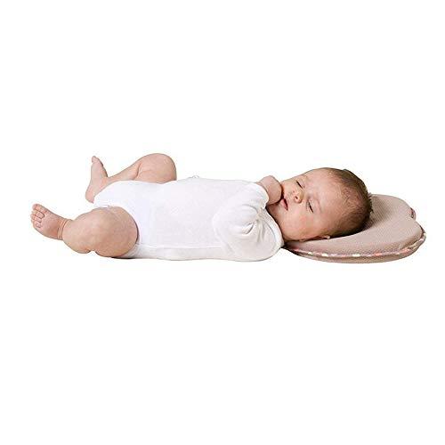 Vektenxi Komfortable Neugeborenes Baby Kissen Herzform Korrektur von Flat-Head-Syndrom verhindern Flat Head Stützkissen (Khaki) - Flat Head Baby-kissen