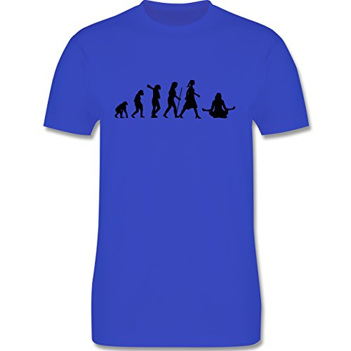 Evolution - Meditation Evolution - Herren Premium T-Shirt Royalblau