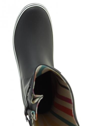 SHORTIE eVERCREATURES bottes en caoutchouc noir Noir