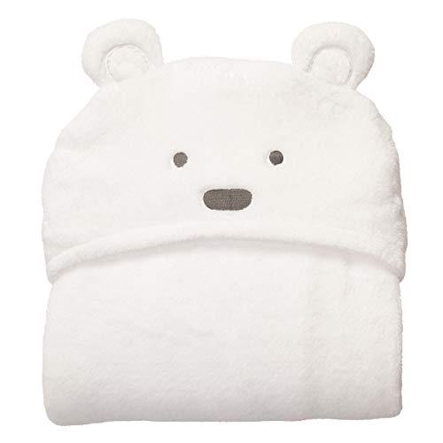 Weiche bequeme Baby Kapuzenpulli Swaddle Decke Bademantel niedlichen Tier Bär wickeln Kleinkind Badetuch (Color : White Bear With Small Eyes) -