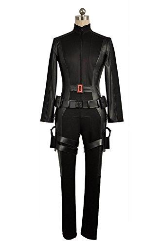 cosplayfly mujeres adultas Capitán América Negro Viuda traje de Cosplay