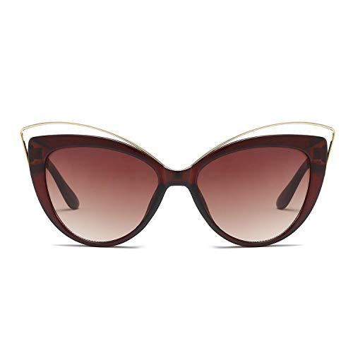 WYJW Herren \u0026 Damen XL Einzigartige Übergroße Cat Eye Hybrid Schmetterling Sonnenbrille Für - Outdoor - Bike - Fahren - Angeln - 100% UV (Schildkrötenrahmen)