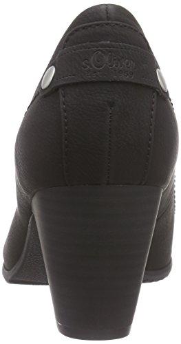 s.Oliver 22404, Chaussures à talons - Avant du pieds couvert femme Noir - Noir