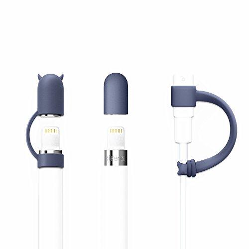 FRTMA per Apple Matita Cap / Supporto di Apple Matita Corno Cap / Fulmine Cavo Tether Adattatore per iPad Pro Matita, Blu Mezzanotte