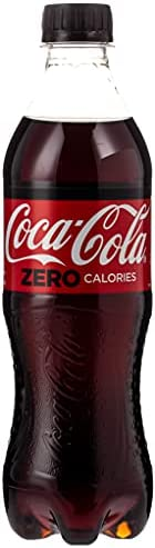 Coca-Cola Zero Calories Carbonated Soft Drink Bottle - 500 ml (Pack of 24)
