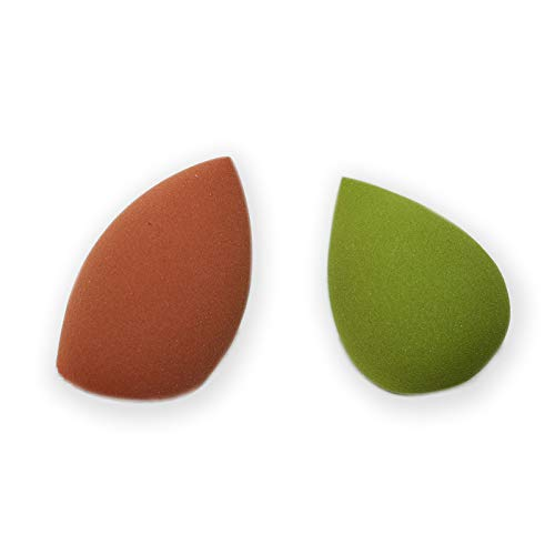 Spugnette make up, set beauty da 2 per trucchi, per cipria, correttore e fondotinta - spugna trucco, spugnetta blender sponge originale per make up e cosmetici