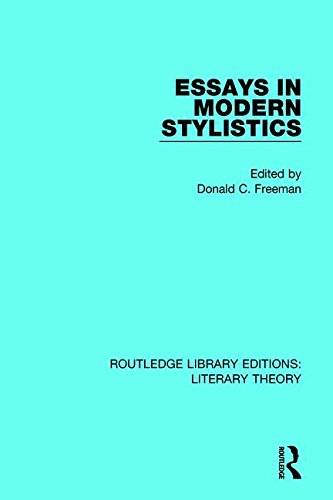 Essays in Modern Stylistics (Routledge Library Editions: Literary Theory)