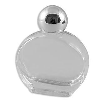 Anzm Weihwasser-Flaschen Glas flach oval 4,5 x 4 cm, ohne Füllung (9519319232630)
