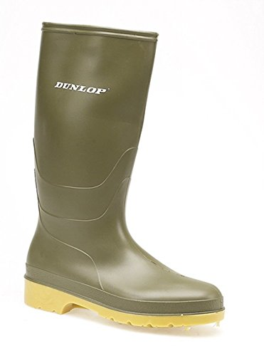 Dunlop Youths Dull Wellington Boots in Blue, Black & Green