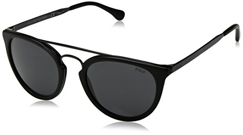 Polo Ralph Lauren Herren 0Ph4121 563087 51 Sonnenbrille, Schwarz (Black Vintage Finisching/Grey),