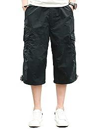 fb0d8a12623d0 Homme Shorts Cargo Pantacourt Coton Multi Poches Loisirs 3/4 Short Casual  Eté