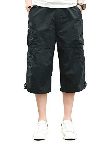 Pinkpum Cargo Shorts Hombres Pantalones Cortos Algodón