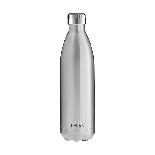 FLSK Das Original Edelstahl Trinkflasche - Kohlensäure geeignet | Die Isolierflasche hält 18 Stunden heiß und 24 Stunden kalt | ohne BPA und rostfrei - 1000ml