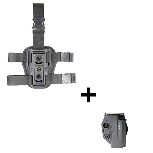 IDS S&W Dropleg Thigh Rig Platform, Tactical 360 roto Retention Adjustment Paddle fits Smith & Wesson M&P 9mm.40cal.22cal & .45cal, M&P M2.0 in 9mm.40cal & .45cal, SD9, SD40, SD9VE
