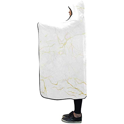 Henry Anthony Mit Kapuze Decke Gold Marmor Textur Decke 50 x 40 Zoll Comfotable Hooded Throw Wrap