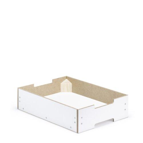 livendor Mehrordnungsbox MOX_3 kompakt, 395 x 295 x 100 mm, weiß, rückenschonende Stapelbox für schöneres Ordnen und Aufbewahren