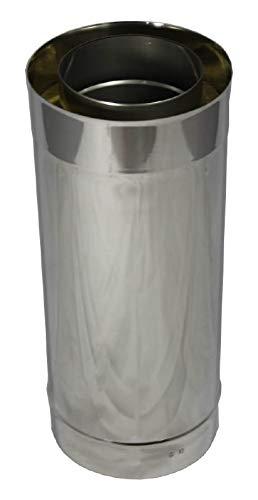 Längenelement 500 mm DN 150 doppelwandig ISOTUBE Plus Ofenrohr Kaminrohr Rauchrohr Schornstein