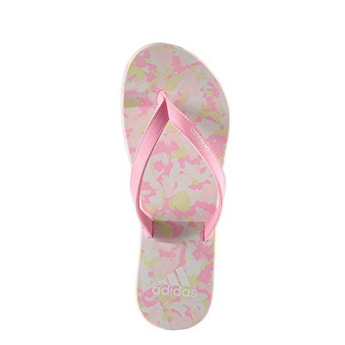 adidas Eezay Marbled W-Chanclas da Donna, Donna, Eezay Marbled W Blanco / Rosa