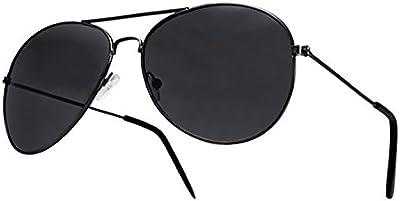 Wayfarer, Nerd gafas o gafas de sol lente transparente, negro-C