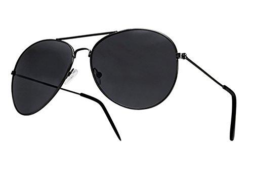 Aviator Fliegerbrille Pornobrille in vielen Farbkombinationen Klassische Pilotenbrille Unisex Sonnenbrille (Aviatro black black)