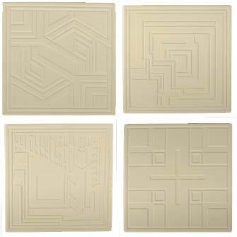 Hindostone Produkte-CoasterStone AS9680 Frank Lloyd Wright ge-tzt Textile Blocks Absorbent Coasters Frank Lloyd Wright Textile-block