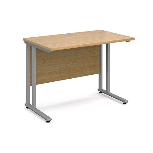 BiMi Slimline 1000mm x 600mm Rectangular Straight Desk in Oak