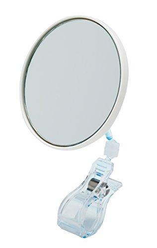 5 X grossissant Miroir de maquillage Angle réglable de type Clip, taille : Ø3.7 pouce