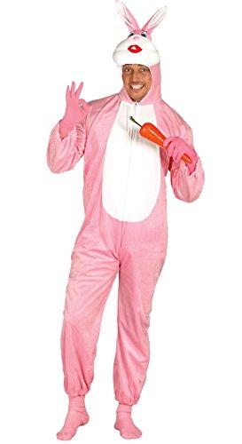 Rosa Kaninchen - Kostüm für Erwachsene Karneval Fasching Hase Karnickel Gr. M - L, Größe:L