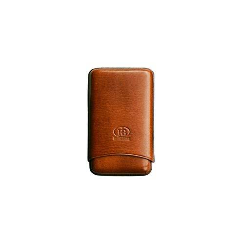 Cigar Leather Case FBVER Portasigari in Vera Pella per Quattro sigari (Marrone)