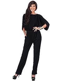 Dooxi Mujer Color Sólido Profesional Pantalones Ajustado Monos Elegante Largo Jumpsuits