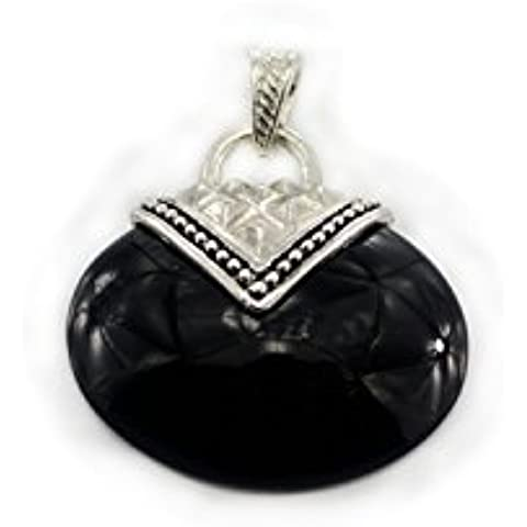 Aituo 1pc cristallo naturale esagonale Reiki guarigione Gemstone Chakra Pendolo ciondolo borsa donna di pile per collana gioielli fai da te Black