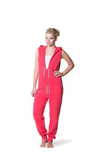 Jumpster Jumpsuit Damen Overall LADY Slim Fit Korallrot