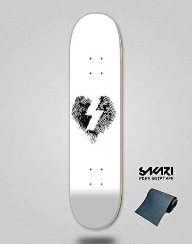 lordofbrands Monopatín Skate Skateboard Deck Mystery Mystery Finger Print 8.0