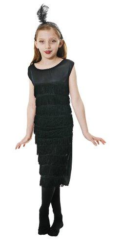 Mädchen Schwarz Flapper / 1920 Kleid der 4-6 (Mädchen Kostüme Flapper)